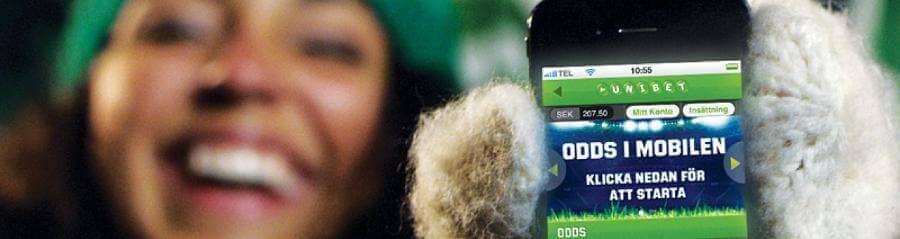 100 riskfritt i mobilen unibet