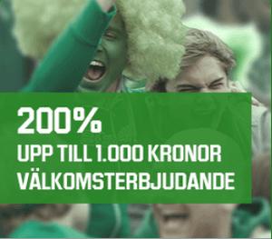 1000 kr bonus unibet