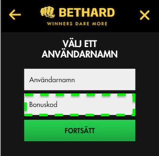 Bethard bonuskod mobil