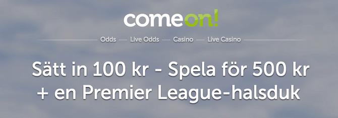 ComeOn bonus Champions League