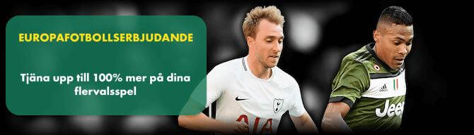 Europafotbollserbjudande bet365