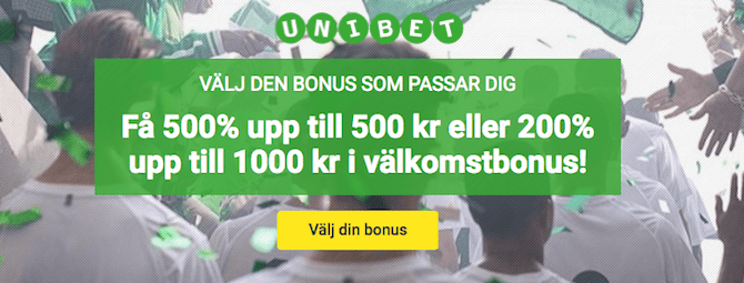 Unibet bonus Champions League