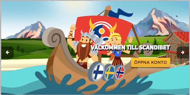 Spela med vikingar hos Scandibet